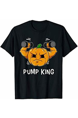 Gym Training Gift Scary Body Builder Workout Gifts Mens Funny Pump King Pumpkin Gourd Halloween Fitness Muscle Train T-Shirt