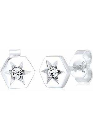 Elli Women 925 Sterling Stars Crystal Earrings