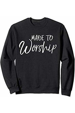 P37 Design Studio Jesus Shirts Christian Praise and Worship Gift for Women Made to Worship Sweatshirt