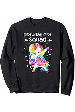 c221629f63f01 Birthday Girl Squad Dabbing Unicorn Shirt Birthday Girl Gift Sweatshirt