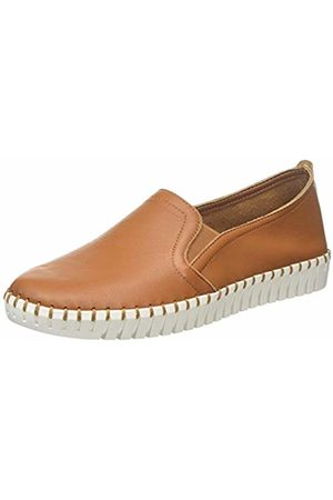 Skechers Women's SEPULVEDA BLVD Slip On Trainers, Leather/Off Trim # Tan