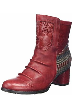 LAURA VITA Women's Gicno 30 Ankle Boots, Rouge