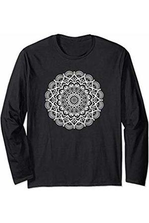 Lotus Mandala Art Tees Lotus Flower Yoga Mandala Apparel for Women and Men Long Sleeve T-Shirt