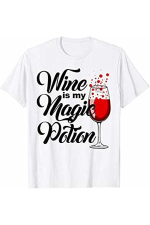 Miftees Wine is my magic potion funny wine loving witch T-Shirt