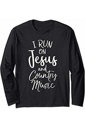 P37 Design Studio Jesus Shirts Women Long Sleeve - Christian Gift for Men & Women I on Jesus and Country Music Long Sleeve T-Shirt