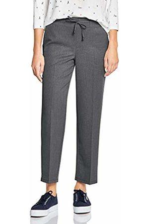 Street one Women Trousers - Women's 372501 Loose Fit Trouser, (Frost Melange 11119)