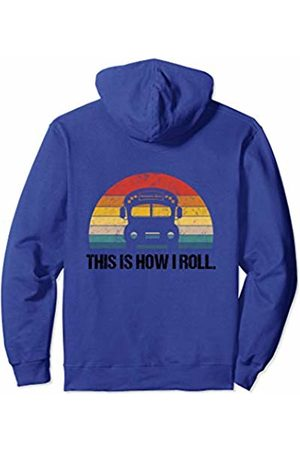 Vintage T-Shirts Co. Vintage Bus School Outfit For Kids Driver Funny Student Meme Pullover Hoodie