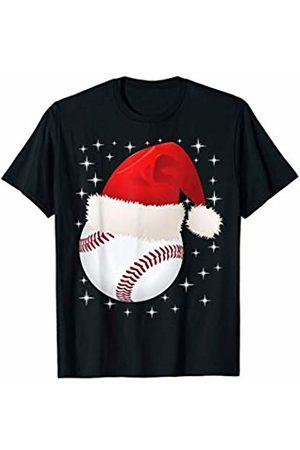 Baseball Santa designsanddesigns Christmas Stars baseball Ball Santa Hat Funny Sport Xmas T-Shirt