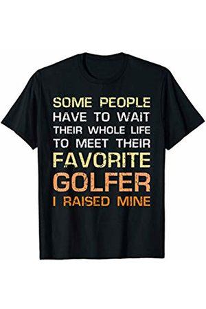 AFiTees Favorite Golfer Gift I Raised Mine Mom Dad Golf Game Player T-Shirt