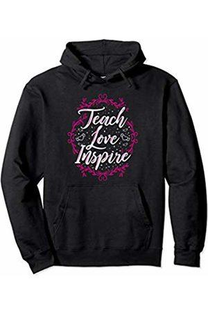 Wowsome! Teach Love Inspire Teacher Teaching Appreciation Day Womens Pullover Hoodie