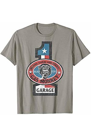 Gas Monkey Garage Texas Number 1 Red White And Blue Logo T-Shirt