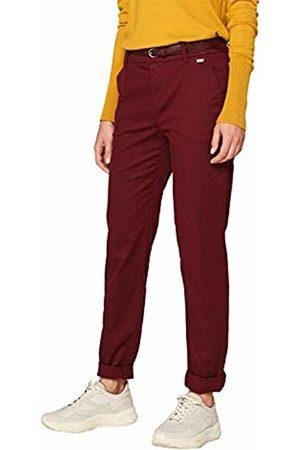 Esprit Women's 089ee1b022 Trouser, (Garnet 620)