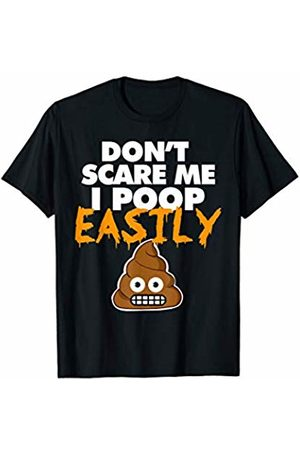 Miftees Don't Scare Me I Poop Easily funny Halloween Poop T-Shirt