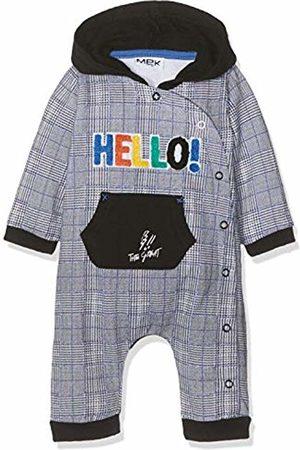 MEK Baby Boys Tutina Senza Piede Felpina Garzata Stampata Playsuit