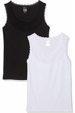 Ulla Popken Women's Unterhemd Dopa, Spitzenausschnitt, Große Größen Vest