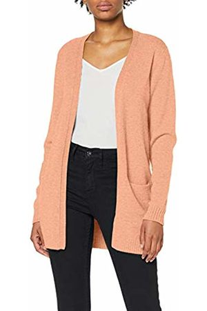 Vila Women Cardigans - Women's Viril L/s Open Knit Cardigan-fav (Canyon Sunset Detail: Melange)