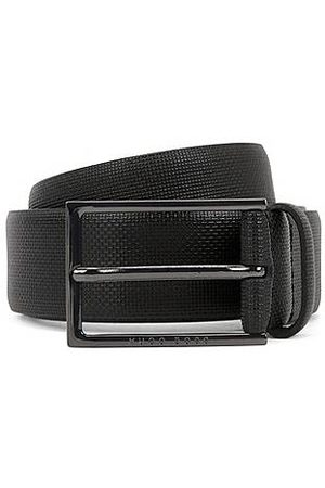 HUGO BOSS Leather belt with emed detail