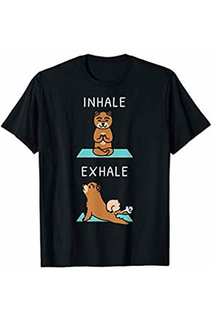 Funny Chow Chow Clothing Chow Chow Yoga Inhale Exhale Funny Dog Gift T-Shirt
