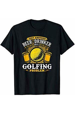 Jamrock Golf Apparel Beer Drinker with a Golfing Problem! Golf Ball T-Shirt