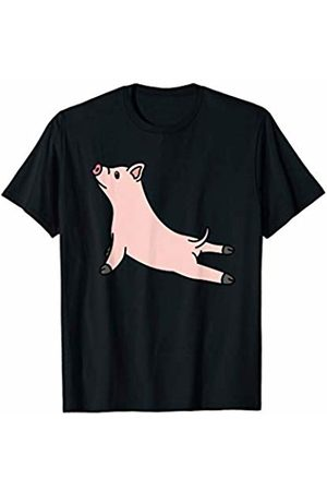 Funny Miniature Pig Clothing Mini Pig Yoga Pose Funny Pet Gift T-Shirt