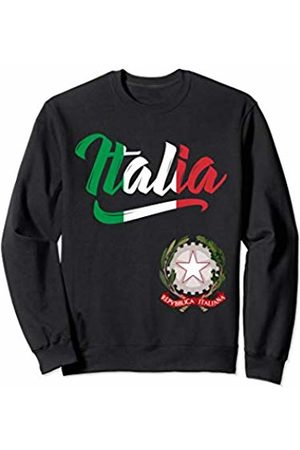 Tee Styley Italia Flag Italian Coat Of Arms Italy Italiano Men Women Sweatshirt
