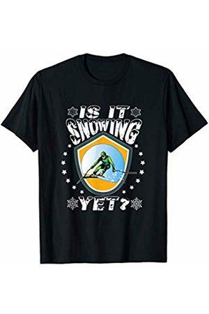 JK Winter Skiing Sports Designs Is It Snowing Yet Skiing Ski Winter Sports T-Shirt