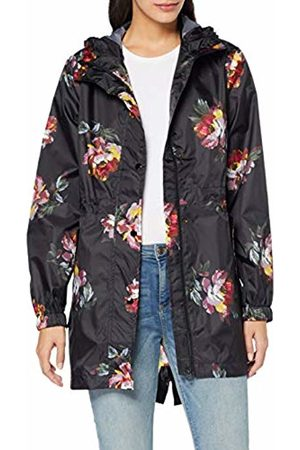 Joules Women's Golightly Raincoat, ( Peony Blackpeony)