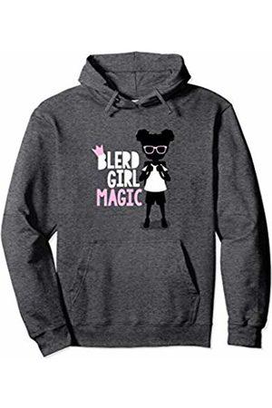 Blerd Universe Apparel Blerdy Girl Magic Blerd Gurl Black Nerd Girl Back to School Pullover Hoodie