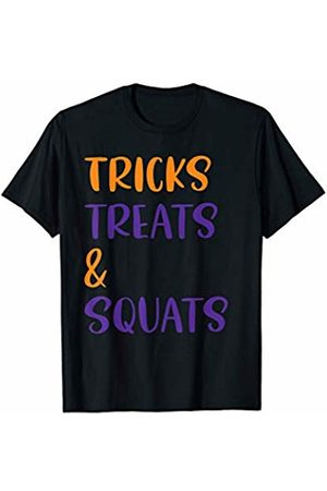 Moxio - Funny Halloween Costume Quotes And Sayings Tricks Treats and Squats Funny Halloween Gym Workout T-Shirt