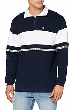 Tommy Hilfiger Men's TJM Tape Zip Mock Neck Jumper