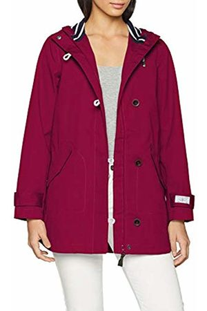 Joules Women's Coast Mid Rain Jacket, Berry