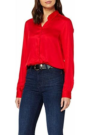 Seidensticker Women's Hemdbluse Langarm Modern fit Satin uni-100% Viskose Blouse, (Haute 47)