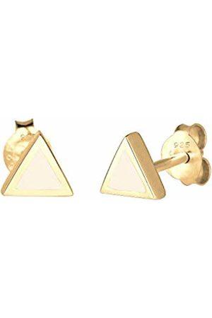Elli Women's 925 Silver Xilion Cut Stud Earrings