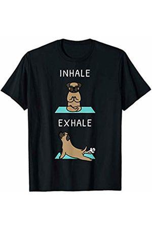 Funny Pug Clothing Pug Yoga Inhale Exhale Funny Dog Gift T-Shirt