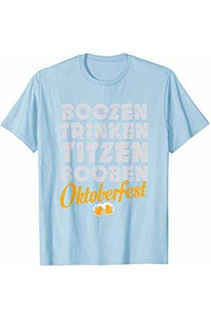 Oktoberfest Apparel by BUBL TEES Boozen Trinken Titzen Booben Oktoberfest T-Shirt