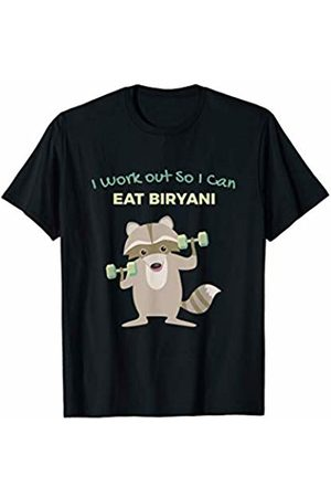 Favorite Indian Food Funny Biryani Lover Raccoon Gym for Men T-Shirt