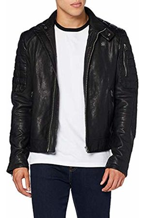 G-Star Men's Suzaki Leather Jacket, Dark 6484