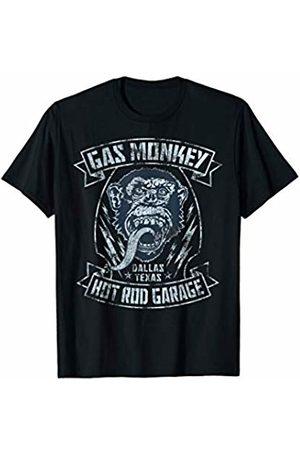 Gas Monkey Garage Ribbon Distressed Outline T-Shirt