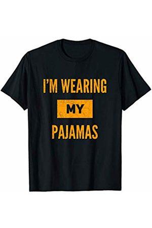 AH Sarcasm Humor Pun Lovers Fans Gifts Etc Funny Distressed I'm Wearing My Pajamas T-Shirt