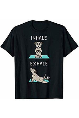 Funny Irish Wolfhound Clothing Irish Wolfhound Yoga Inhale Exhale Funny Dog Gift T-Shirt