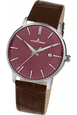 Jacques Lemans Men's Analogue Quartz Watch with Leather Strap 1-213E