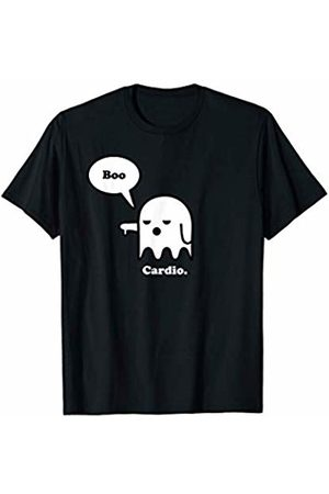 The Disapproving Ghost Clothing Store Funny Boo Halloween Ghost Costume Hate Cardio Workout Gym T-Shirt