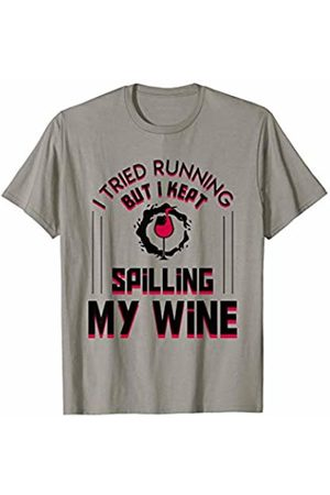 Funny gift shirt I Tried Running But I Kept Spilling My Wine Cool Shirt