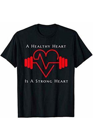 Medical Career Designs for Nurses, Doctors, EMT's. Gym Motivational Red Heart EKG Barbell Positive Message T-Shirt