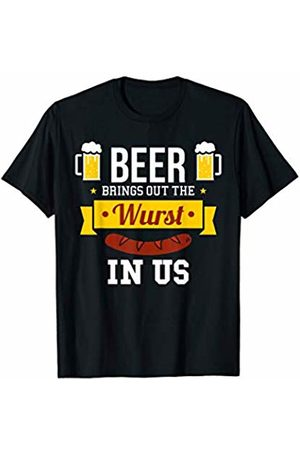 Oktoberfest Apparel by BUBL TEES Beer Brings Out The Wurst In Us Oktoberfest T-Shirt
