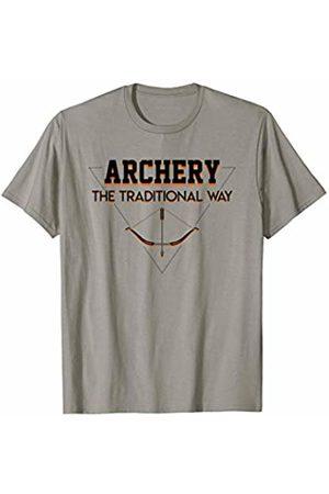 Funny gift shirt Men T-shirts - Traditional Way Sports Hunting Cool Saying Archery Shirt