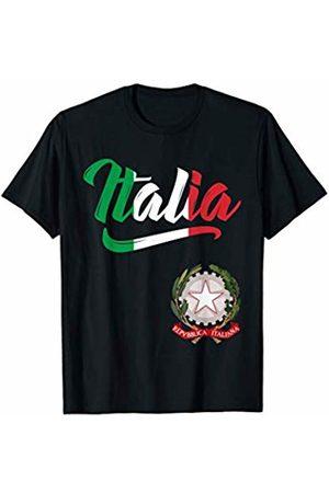Tee Styley Italia Flag Italian Coat Of Arms Italy Italiano Men Women T-Shirt