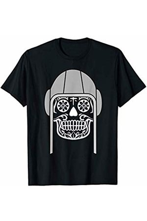 Water Polo Halloween Apparel Gift Cool Water Polo Halloween Skull with Grey Cap - Gift T-Shirt