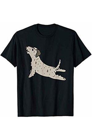 Funny Irish Wolfhound Clothing Irish Wolfhound Yoga Pose Funny Dog Gift T-Shirt