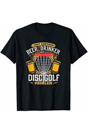 Jamrock Frisbee and Disc Golf Apparel Beer Drinker With a Disc Golf Problem! Funny Frisbee T-Shirt
